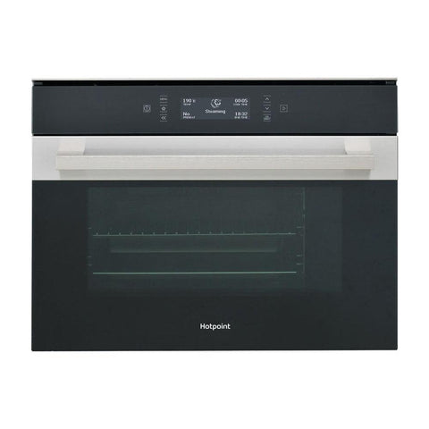 Hotpoint MS 998 IX H Built In Combination Steam Oven - Black & Stainless Steel