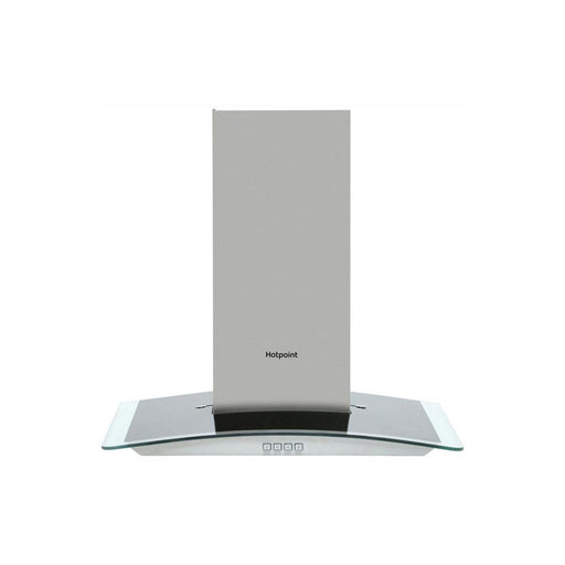 Hotpoint PHGC6.4FLMX 60cm Curved Glass Chimney Hood - Stainless Steel