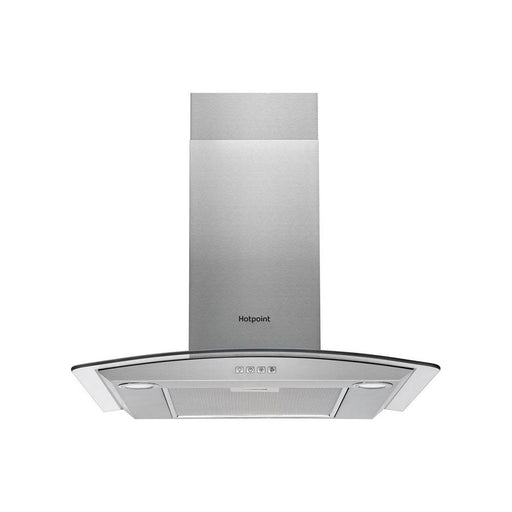 Hotpoint Curved Glass Chimney Hood - Stainless Steel