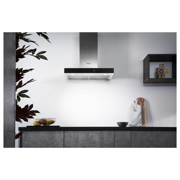 Hotpoint PHBS6.8FLTIX 60cm Box Chimney Hood - Stainless Steel-additional-image-9