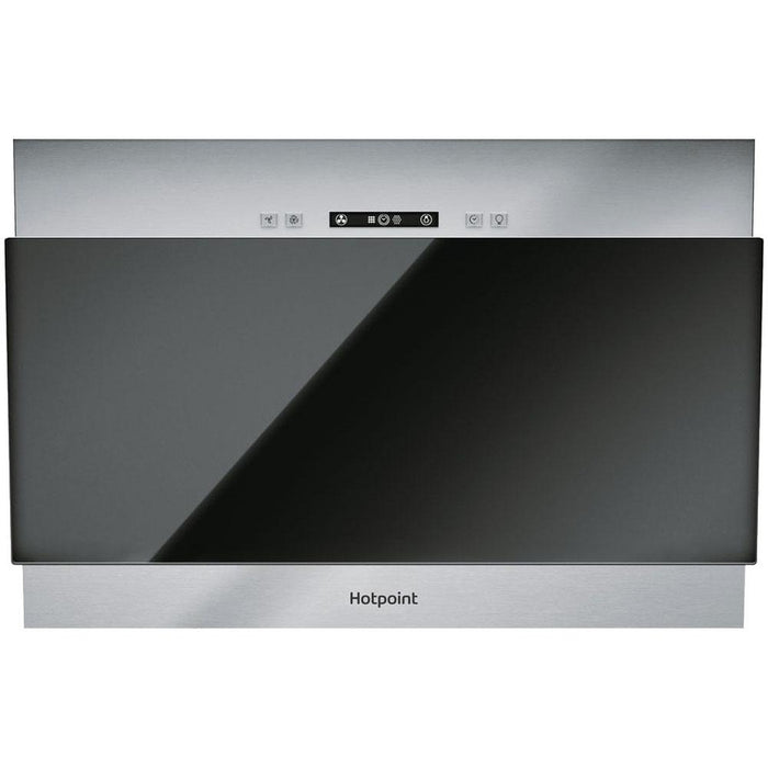Hotpoint PHVP 6.4F AL K/1 60cm Angled Chimney Hood - Black Glass-additional-image-2
