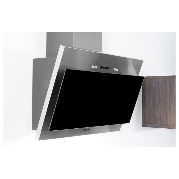 Hotpoint PHVP 6.4F AL K/1 60cm Angled Chimney Hood - Black Glass-additional-image-3
