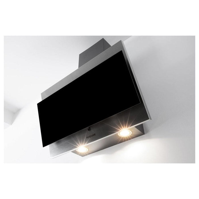 Hotpoint PHVP 6.4F AL K/1 60cm Angled Chimney Hood - Black Glass-additional-image-5
