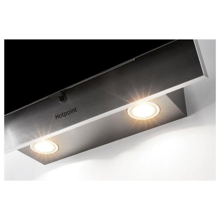 Hotpoint PHVP 6.4F AL K/1 60cm Angled Chimney Hood - Black Glass-additional-image-6