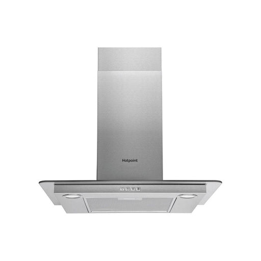 Hotpoint Flat Glass Chimney Hood - Stainless Steel
