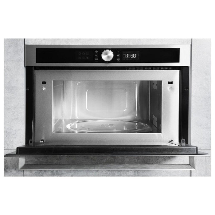 Hotpoint MD 554 IX H Built In Microwave & Grill - Stainless Steel-additional-image-3