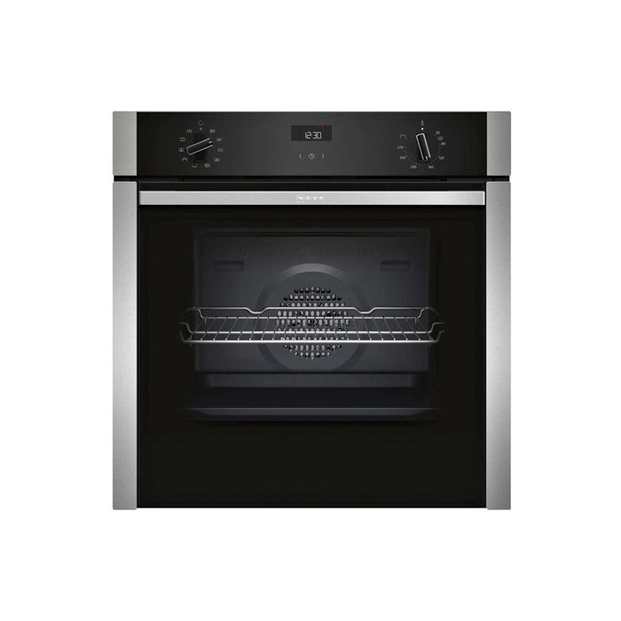 Neff N50 B3ACE4HN0B Built In Single Slide&Hide® Electric Oven - Stainless Steel