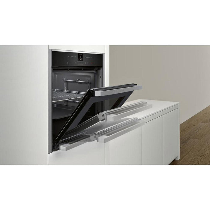 Neff N70 B47CR32N0B Built In Single Slide&Hide® Electric Oven - Stainless Steel Additional Image 1