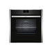 Neff N90 B47CS34H0B Built In Single Slide&Hide® Electric Oven - Stainless Steel & Stainless Steel