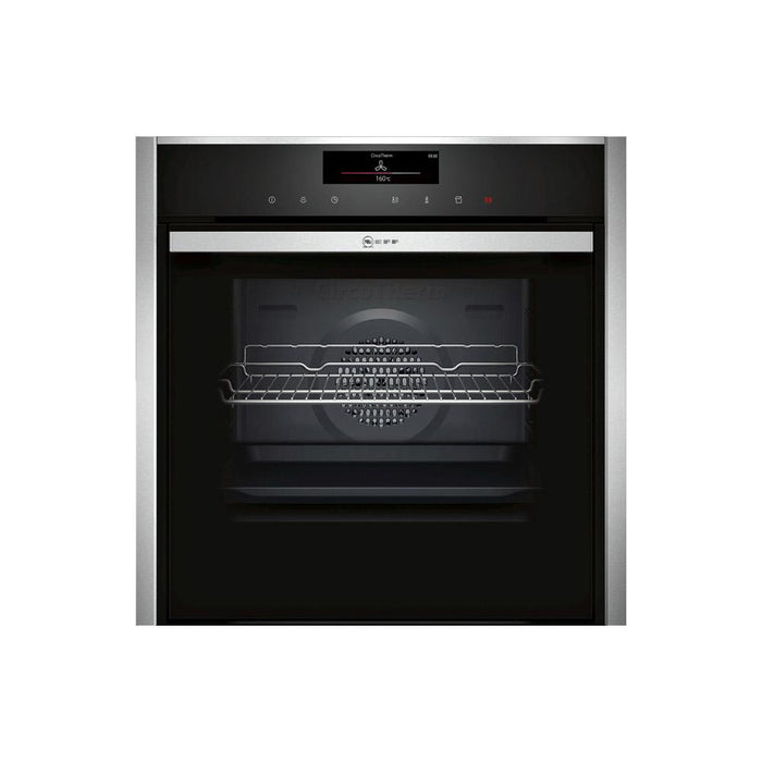 Neff N90 B48FT78H0B Built In Single Slide&Hide® Electric Oven with FullSteam - Stainless Steel