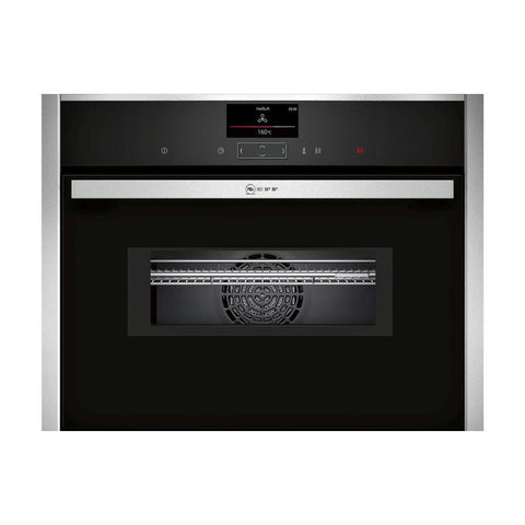 Neff N90 C27MS22H0B Built In Compact Pyrolytic Oven & Microwave - Stainless Steel