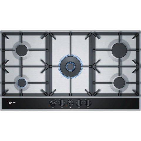 Neff N70 T29DA69N0 90cm Gas Hob - Stainless Steel & Black