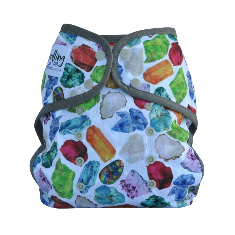 "Comodo Wrap+ Reusable Nappy Cover (15kg-25kg) ""Birthstone Grey"""
