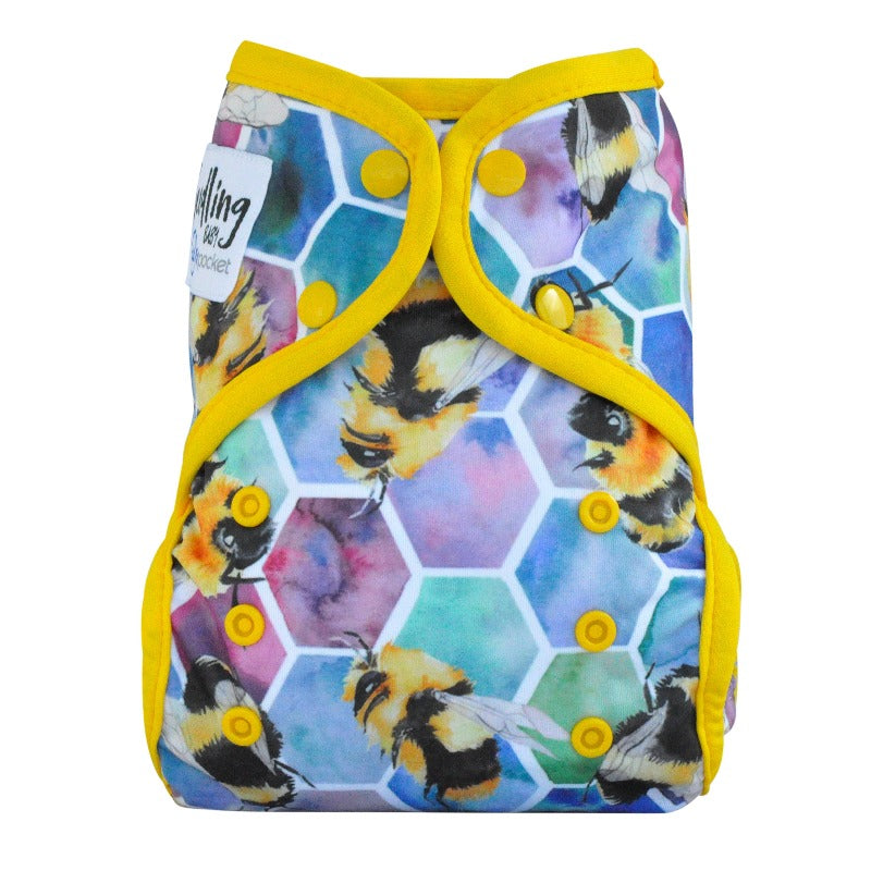 "Multi-Fit Pocket Nappy (4-16kg) ""Beehive Yellow"""