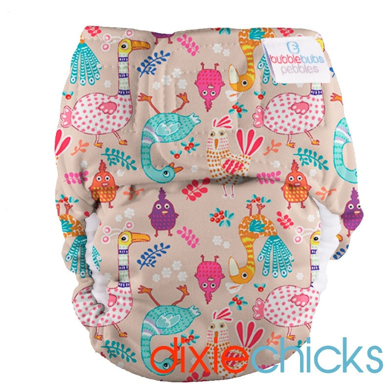 "Pebbles Newborn All-in-One Nappy (2kg-5.5kg) ""Dixie Chicks"" PUL"