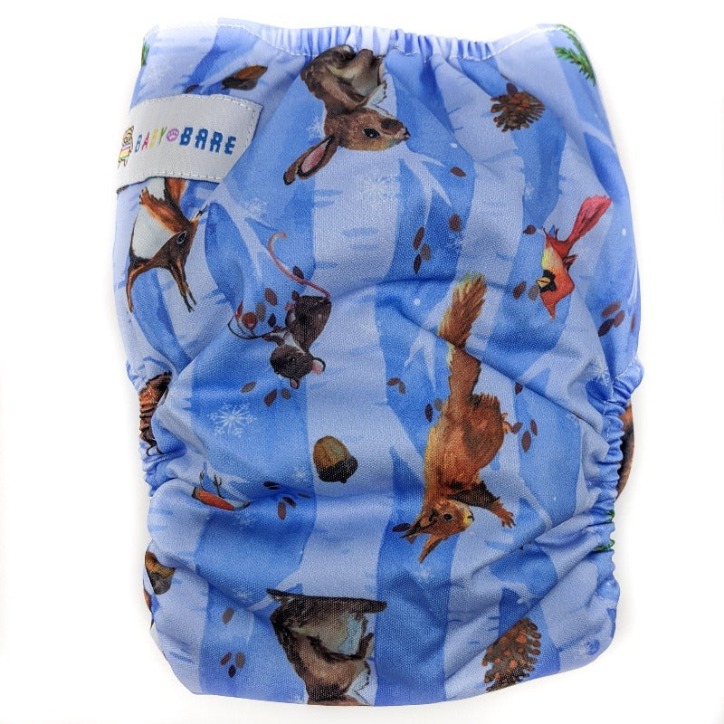 Teddy Bare, All in Two Nappy (5kg-18kg) *All Baby Bare Prints*