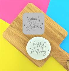 'Happy Birthday' Embossy Stamp Tile