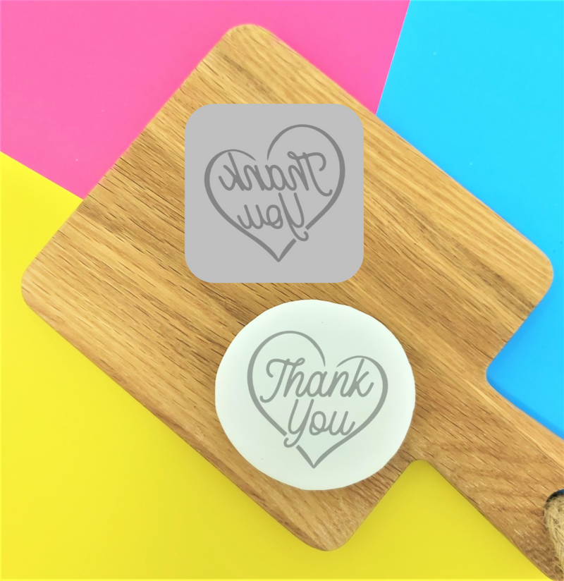 Thank You Heart - Embossy Stamp Tile