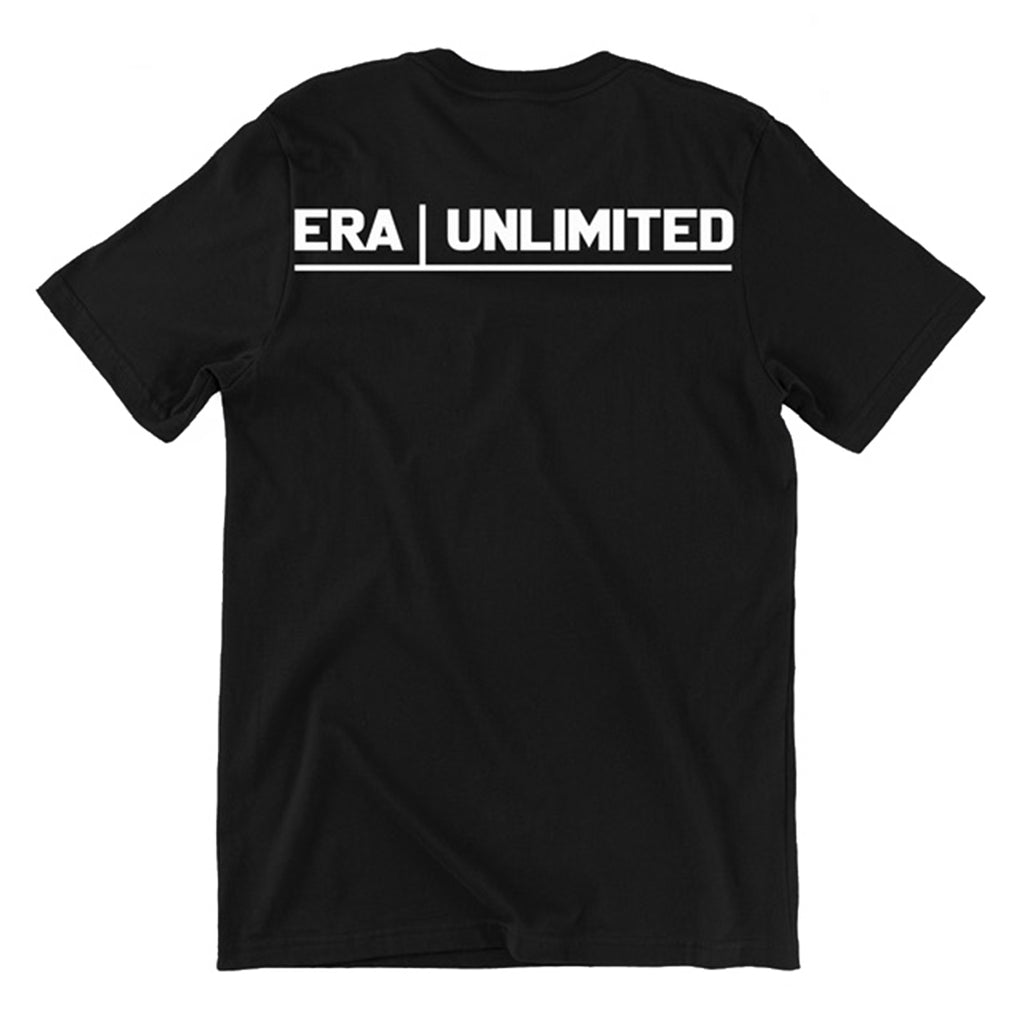 T-Shirt 01 Era Unlimited | Edroppit - Vestibilità: Regular Fit T-Shirt Unisex di colore nero Stampa serigrafica sul fronte Logo sul retro 100% cotone Esclusivamente Made in Italy