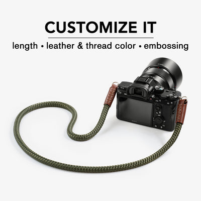 rope camera strap. mirrorless camera strap. cord camera strap.