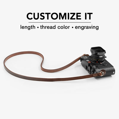 minimalist leather camera strap. Leather camera strap. Fab' handcrafted. Fab strap.