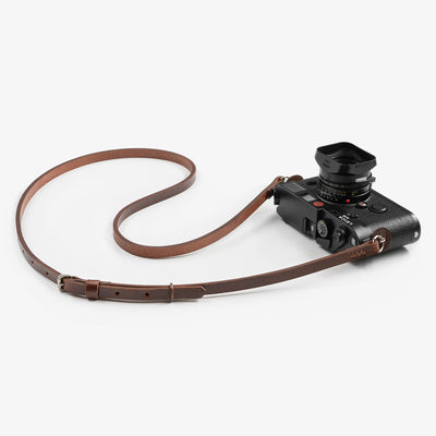 Leather camera strap. Adjustable camera strap. Handmade camera strap.