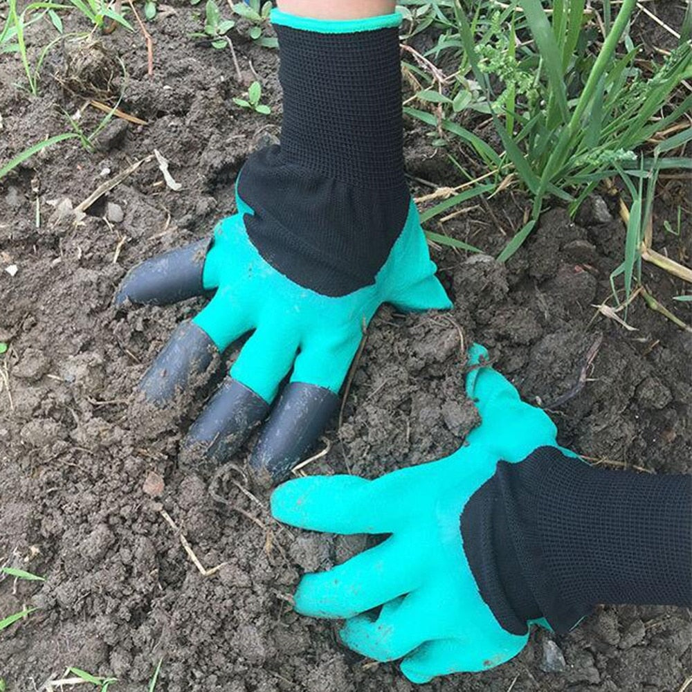 Garden Gloves with Fingertips Claws