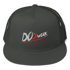 "DoDiWork ""White & Red Stitch"" - Mesh Back Snapback"