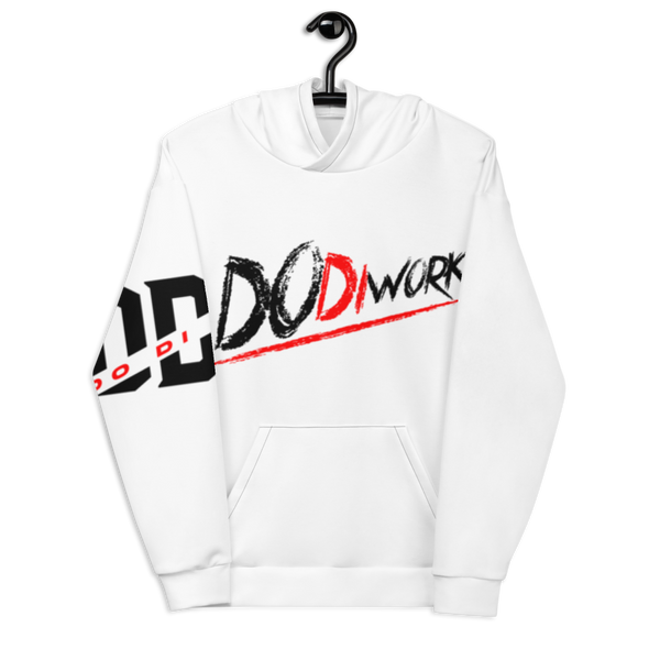 "DoDiWork ""Black & Red"" - All-Over-Print Pullover Hoodie (Unisex)"