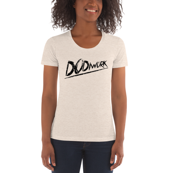 "DoDiWork ""Black Print"" - Women's Crew Neck T-shirt"