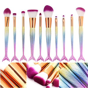 Mermaid Tail Rainbow Mermaid Brush Set