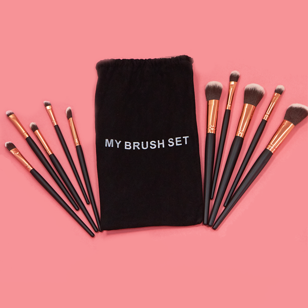 Pro Black 24 Piece Makeup Brush Set