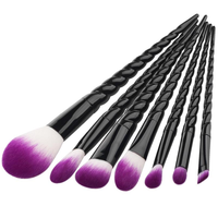 Pro Black Unicorn Makeup Brush Set