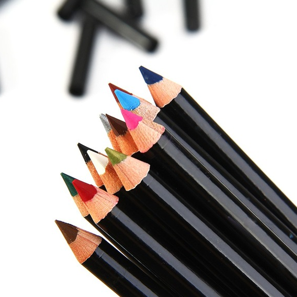 A Set Of Multi Color Eye Pencil