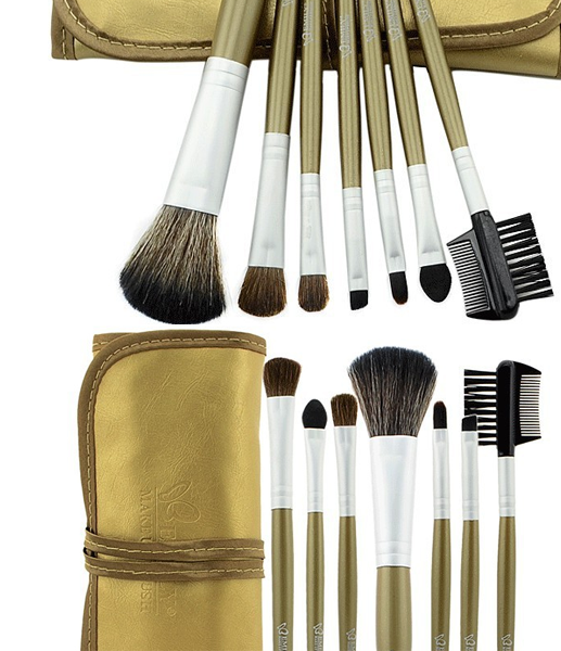 Glamour Golden Make Up Brush Set