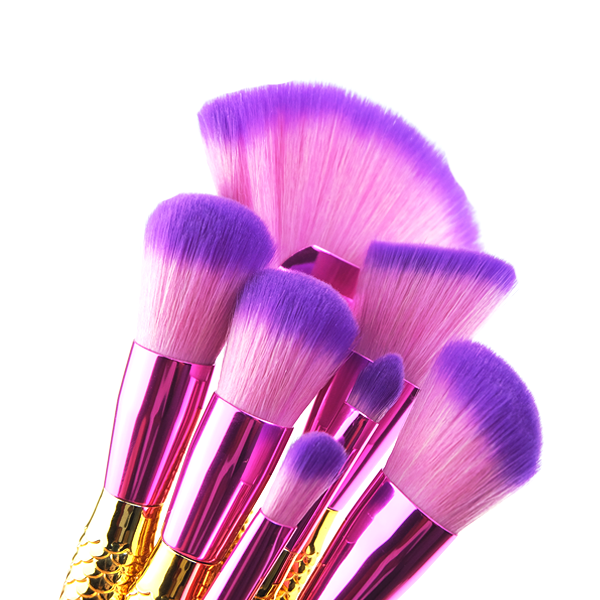 Big Fan Mermaid Tail Brush Set