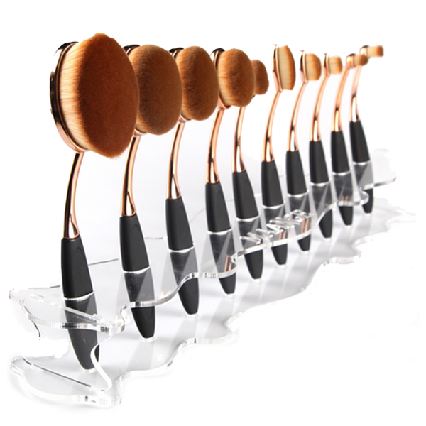 Oval Brush Holder Stand