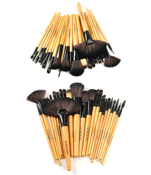 Premium Wood Brush Set with Free Case
