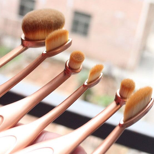 'The Midas Touch' 10 Piece Oval Brush Set ,  - My Make-Up Brush Set, My Make-Up Brush Set  - 3