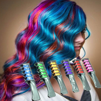 6pc Shimmer Hair Chalk Comb
