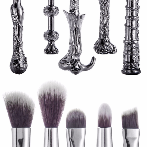 5 Piece Metal Wands Magic Brush Set