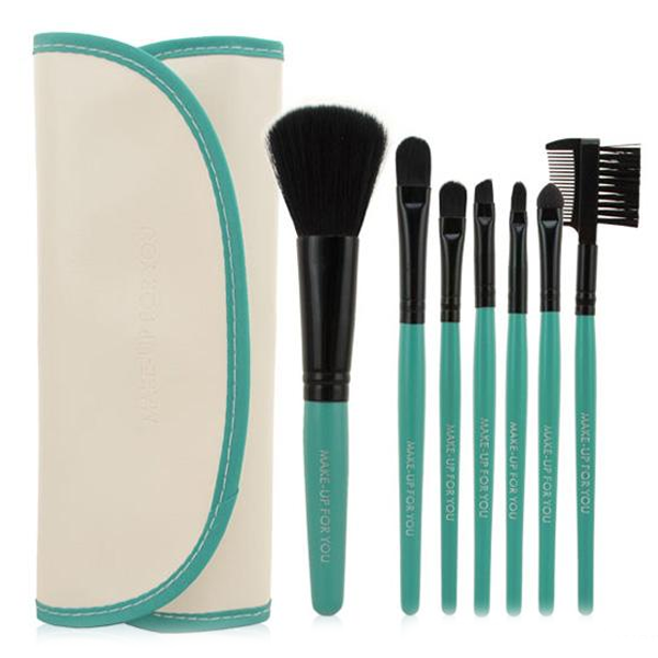 7 Piece Brush Set White and Green ,  - My Make-Up Brush Set, My Make-Up Brush Set  - 2