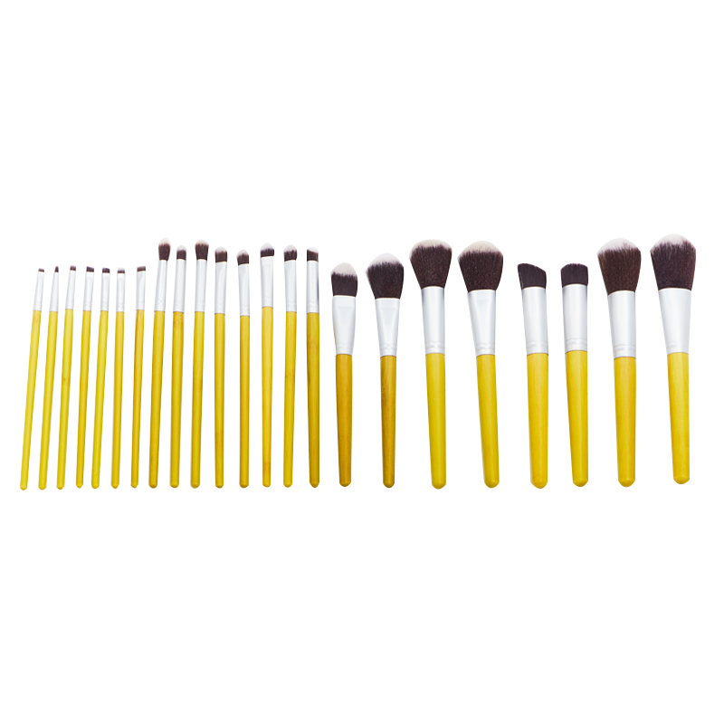 23 Piece Nylon MakeUp Brush Set with a Silicone Sponge