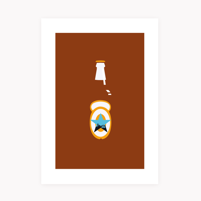 Newcastle Brown Ale Print