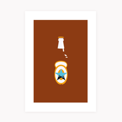 Newcastle Brown Ale Print - NL Wall Art - 1