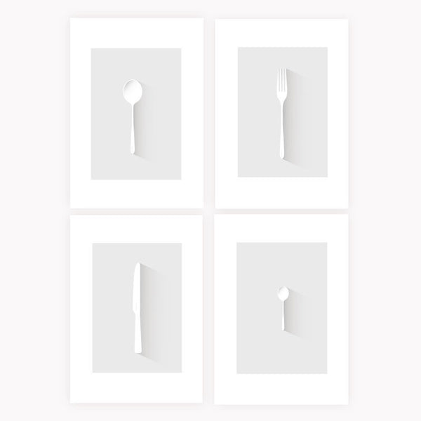 The Collection of Cutlery Prints - NL Wall Art - 1