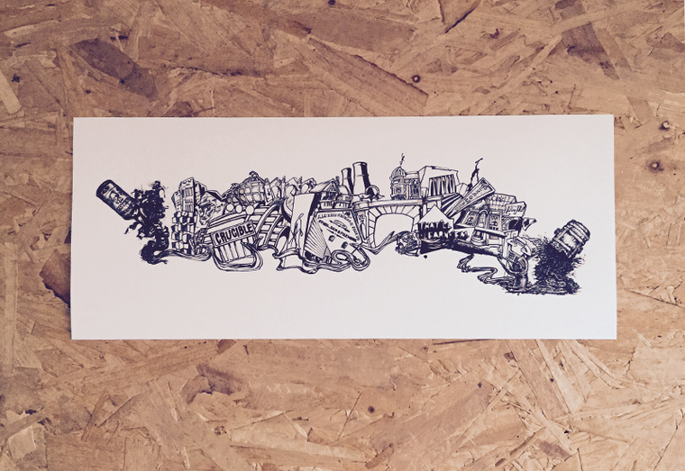 Sheffield City Montage Print