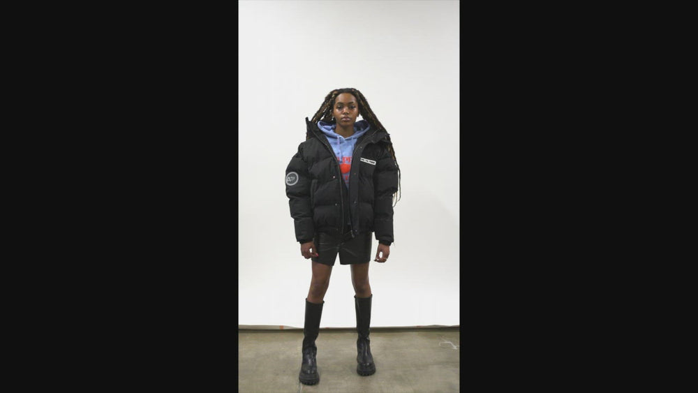 Load and play video in Gallery viewer, BLACK SUBWAY PUFFER