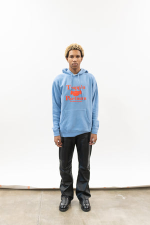 TRAPPIN PARTNER BLUE WASHED HOODIE