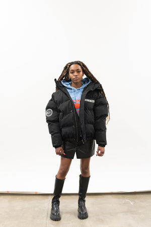 Load image into Gallery viewer, BLACK SUBWAY PUFFER